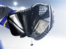 Ice hockey goalie glove Royalty Free Stock Images
