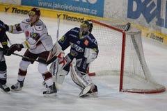 Ice hockey goalie - Roman Malek Stock Image