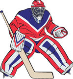 Ice hockey goalkeeper Royalty Free Stock Photos