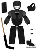 Ice Hockey Goalkeeper Equipment Kit Royalty Free Stock Photos
