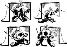 Ice hockey goalkeepers royalty free illustration
