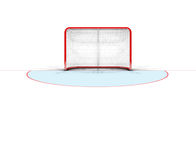 Ice Hockey Goals. A 3D render of an ice hockey goal on an isolated white background Stock Image
