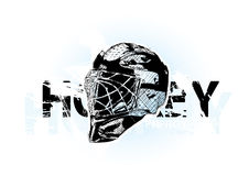 Ice hockey helmet stock illustration