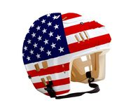 Hockey Helmet With USA Flag Painted Royalty Free Stock Images