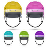 Ice hockey helmets with visor Royalty Free Stock Photos