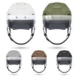 Ice hockey helmets with visor, on white Royalty Free Stock Photo