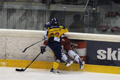 Ice hockey hit Stock Image
