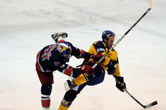 ice hockey hit Stock Photo