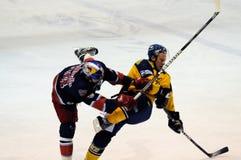 ice hockey hit Stock Photo