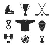 Ice Hockey. Icon set Royalty Free Stock Image