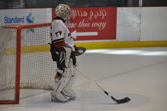 Ice hockey keeper royalty free stock images