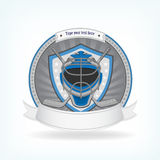 Ice hockey labels, badges Stock Photo