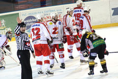 Ice hockey match Royalty Free Stock Images