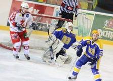 Ice hockey match Royalty Free Stock Photos