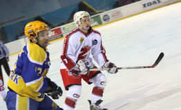 Ice hockey match Royalty Free Stock Image