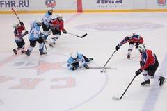Ice hockey match Bobrov vs Piter Stock Photos