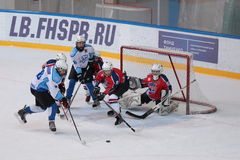 Ice hockey match Bobrov vs Piter Royalty Free Stock Photo