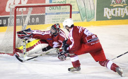 Ice hockey match - goal Stock Photos