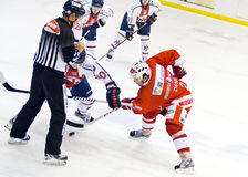 Ice hockey match Milano against Bozen Stock Image