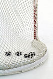 Ice hockey net. Goal post and net in a hockey arena Royalty Free Stock Photo