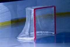 Ice hockey net. A view of ice hockey net Stock Photography