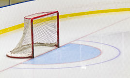 Ice hockey net in an arena Royalty Free Stock Photography