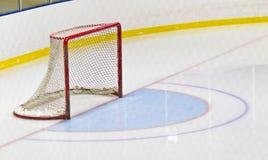 Ice hockey net in an arena. Ice hockey net in a hockey arena Royalty Free Stock Photography