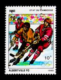 Ice Hockey, Olympic Games 1992 - Albertville serie, circa 1990 Royalty Free Stock Photo