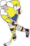 Ice-hockey player Royalty Free Stock Photo