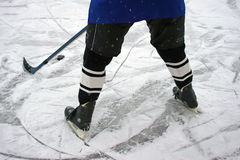 Ice hockey player. The player of a command on an ice hockey Royalty Free Stock Images