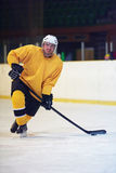 Ice hockey player in action Royalty Free Stock Photo