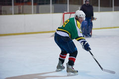 Ice hockey player in action Stock Images