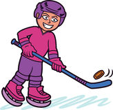 Ice Hockey Player Cartoon Character Royalty Free Stock Image