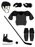Ice Hockey Player Equipment Kit Royalty Free Stock Photos
