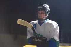 Ice hockey player portrait Royalty Free Stock Image