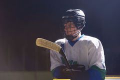 Ice hockey player portrait Royalty Free Stock Photos