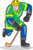 Ice Hockey Player With Stick Cartoon Stock Images