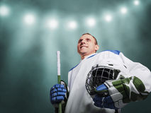 Ice hockey player in uniform Stock Image