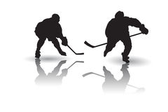 Ice hockey player Vector. Vector of some Ice hockey players silhouettes Stock Photos