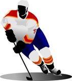 Ice hockey player. Vector illustration Royalty Free Stock Photo