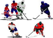 Ice hockey players Stock Image