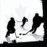 Ice Hockey Players. Vector illustration of hockey players Stock Photography