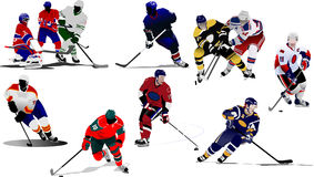 Ice hockey players Royalty Free Stock Photo