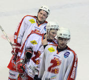 Ice hockey players Stock Images
