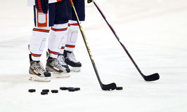Ice hockey players stock photos