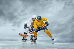Ice hockey players Stock Photo