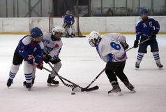 Ice hockey players in action Stock Images