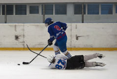 Ice hockey players in action-4 Stock Photography