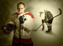 Ice hockey players Royalty Free Stock Image