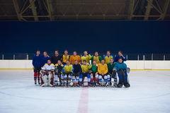 Ice hockey players team portrait Stock Image